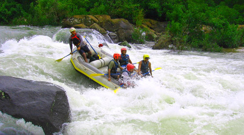 Rafting at Coorg
